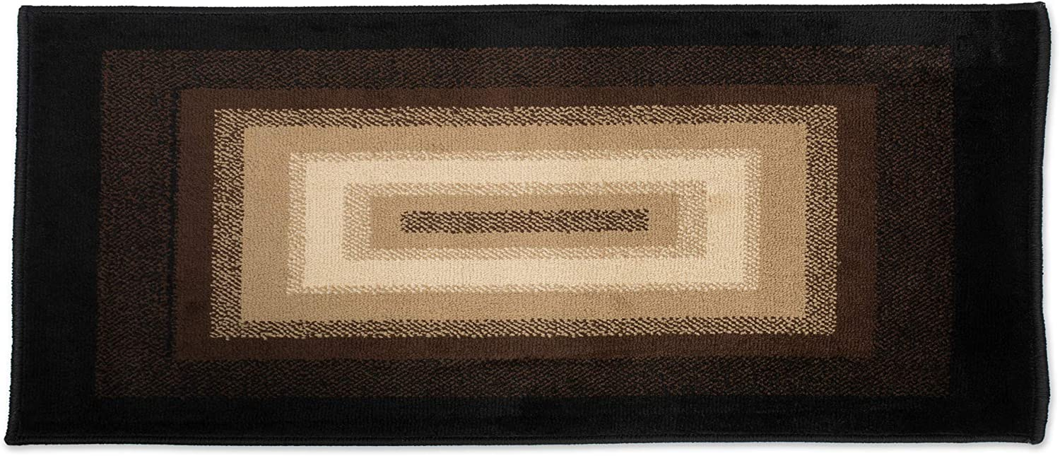 J&M Home Fashions Contemporary Non-Skid Woven Area Rug, Perfect for Living, Kitchen, Bed Room, Loft, Office and More, 22x60, Wonderland