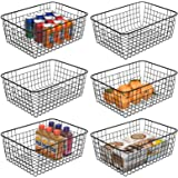 Wire Baskets For Storage, iSPECLE Metal Wire Food Organzier Storage Baskets Organizing Bins with Handles for Kitchen Cabinets