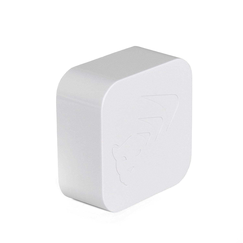 WiCub - Sensore intelligente WiFi con termometro/igrometro, dotato di allarme; per rilevare temperatura e umidità; colore bianco Mesh-Net