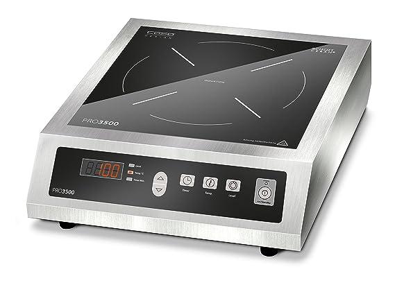 Caso pro 3500 mobiles induktionskochfeld für den gewerblichen einsatz geeignet 3500 watt edelstahlgehäuse 10 leistungsstufen amazon de küche