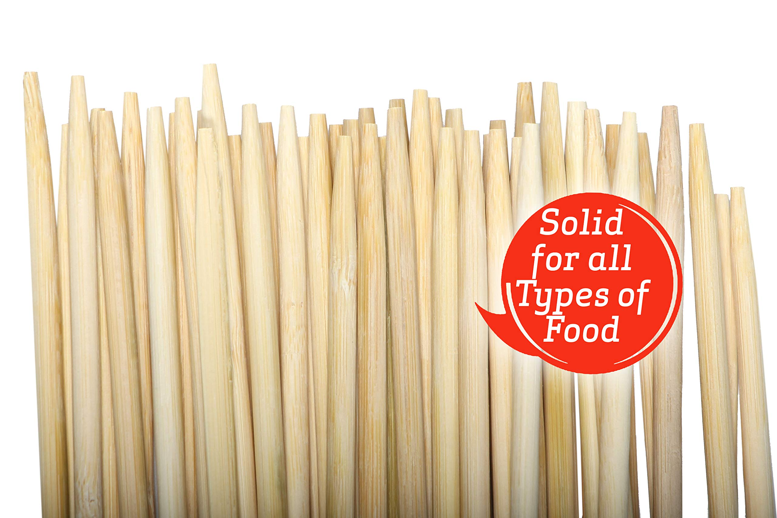 50 PCS | Marshmallow Bamboo ROASTING STICKS | 36''Long 5''mm Thick Extra Long Heavy Duty | Semi-Dulled Point SAFE FOR KIDS | 100% BIODEGRADABLE, NO CLEANING, NO SOAKING by FirePit Stix