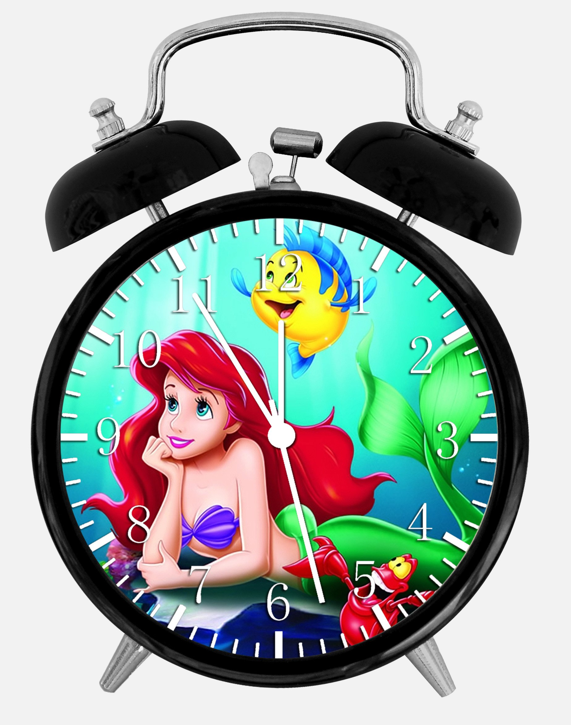 The Little Mermaid Ariel Alarm Desk Clock 3.75'' Home or Office Decor E325 Nice For Gift