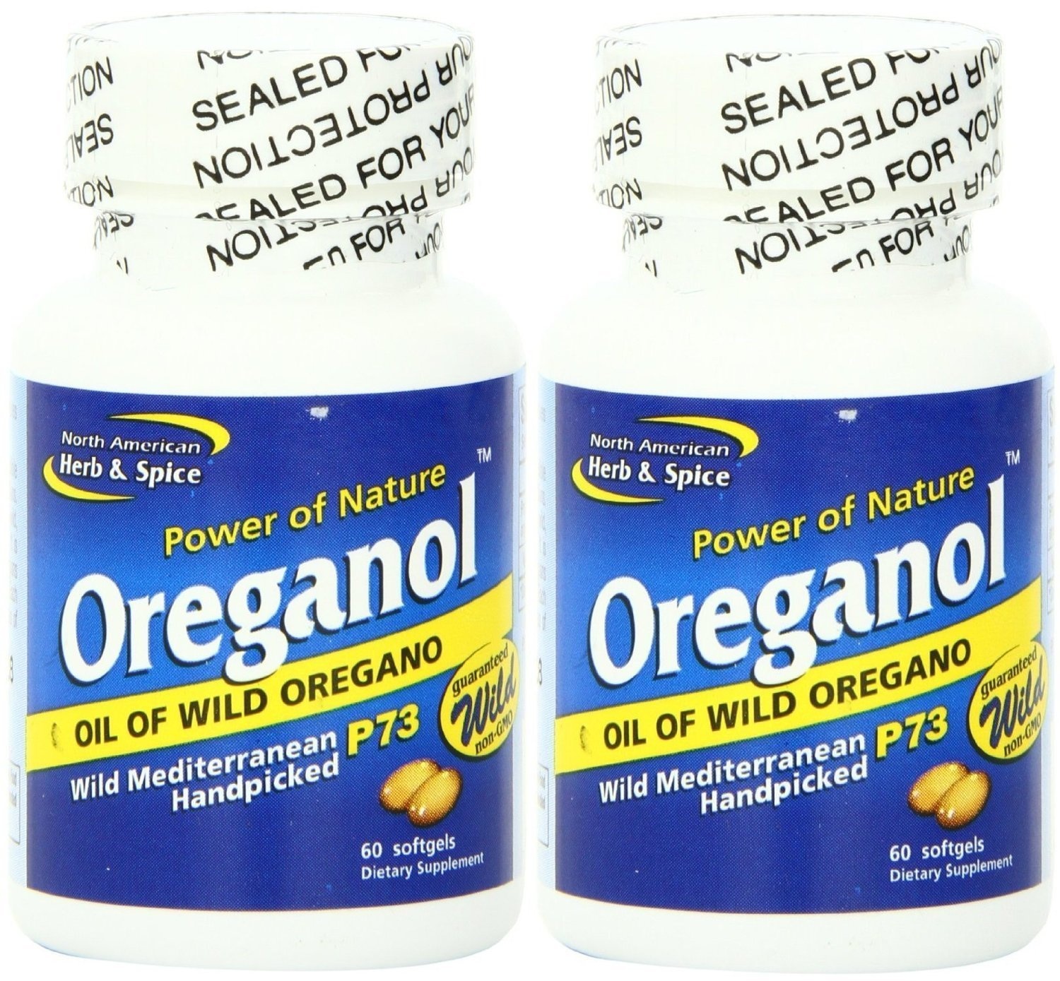 North American Herb and Spice, Oreganol P73 Gel-Capsules, 60 X 2 by North American Herb & Spice