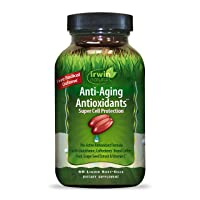 Irwin Naturals Anti-Aging Antioxidants - Free Radical Defense with Glutathione, Grape Seed Extract & Coffee Berry - 60 Liquid Softgels