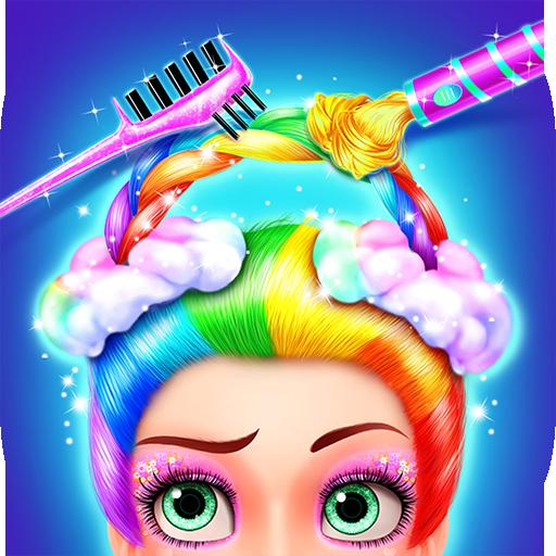 [Rainbow Hair Salon - Dress Up] (Dress Up Themes)