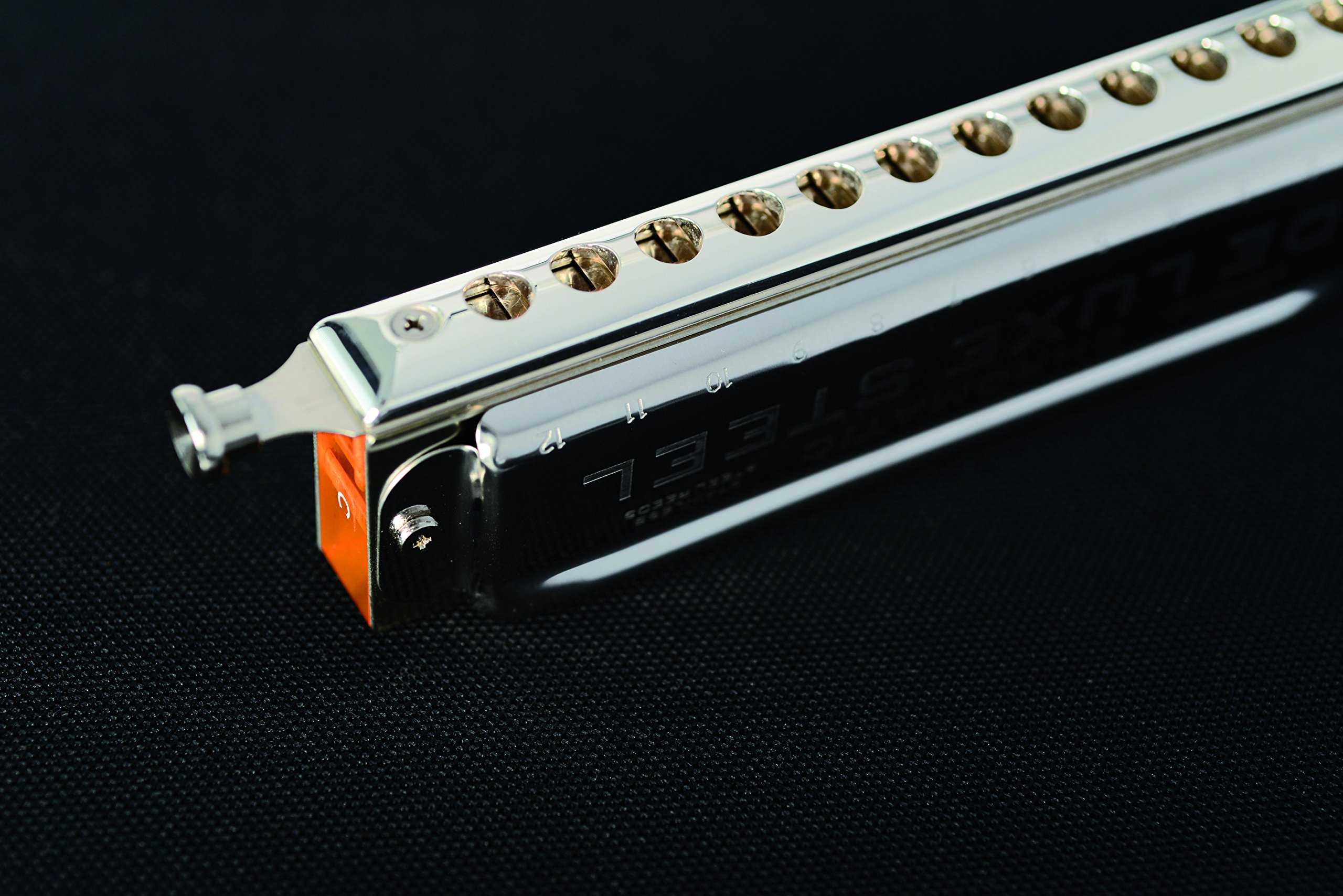 SEYDEL Chromatic DeLuxe Steel Solo Harmonica C by Seydel (Image #3)