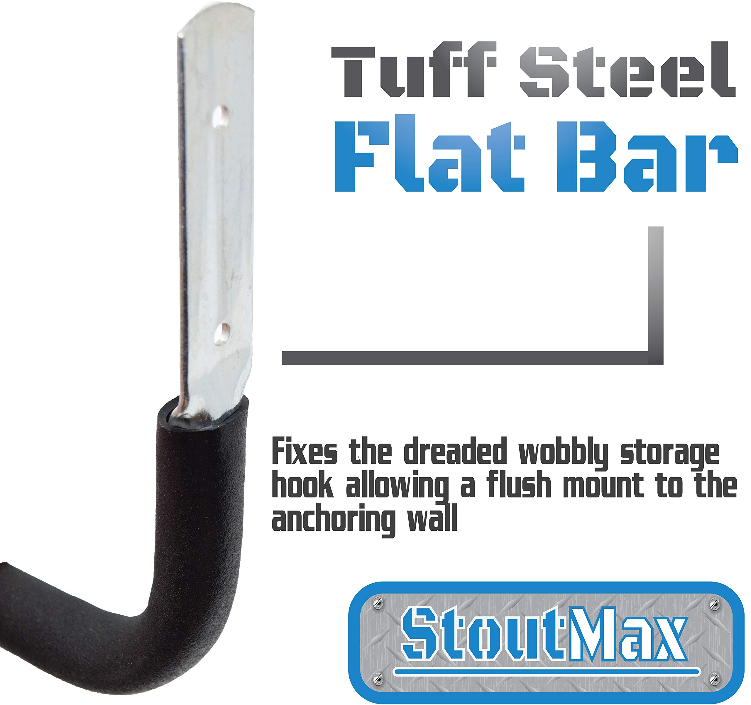 StoutMax Heavy Duty Bike Storage Hooks Set, 6 Pack
