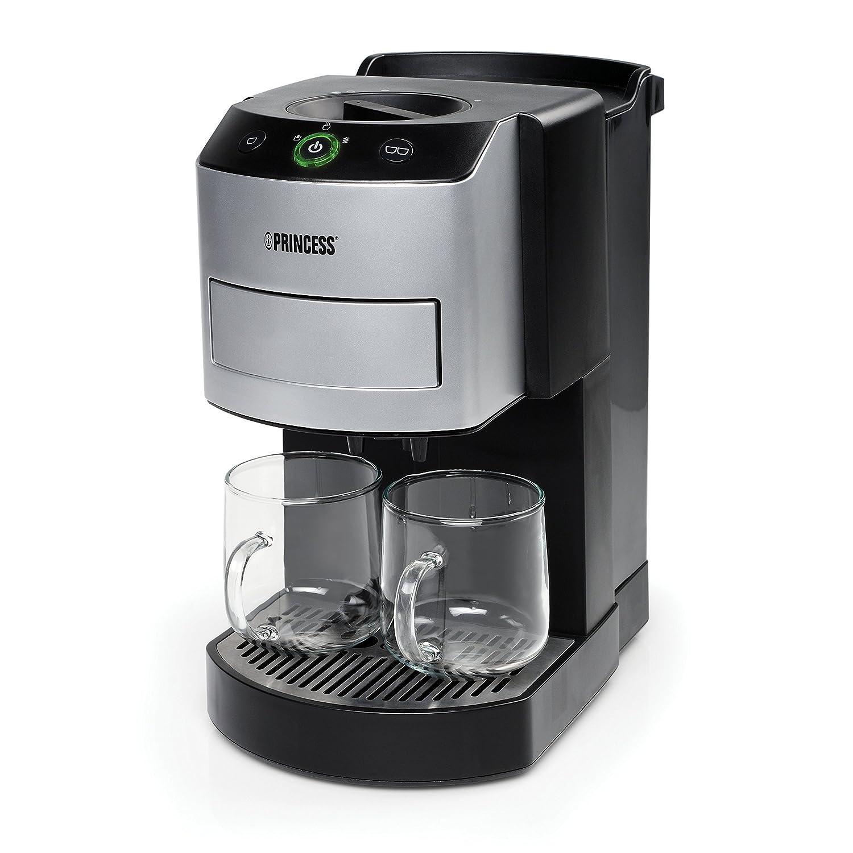 Princess 242800 - Cafetera con capacidad de 1 l, color plateado