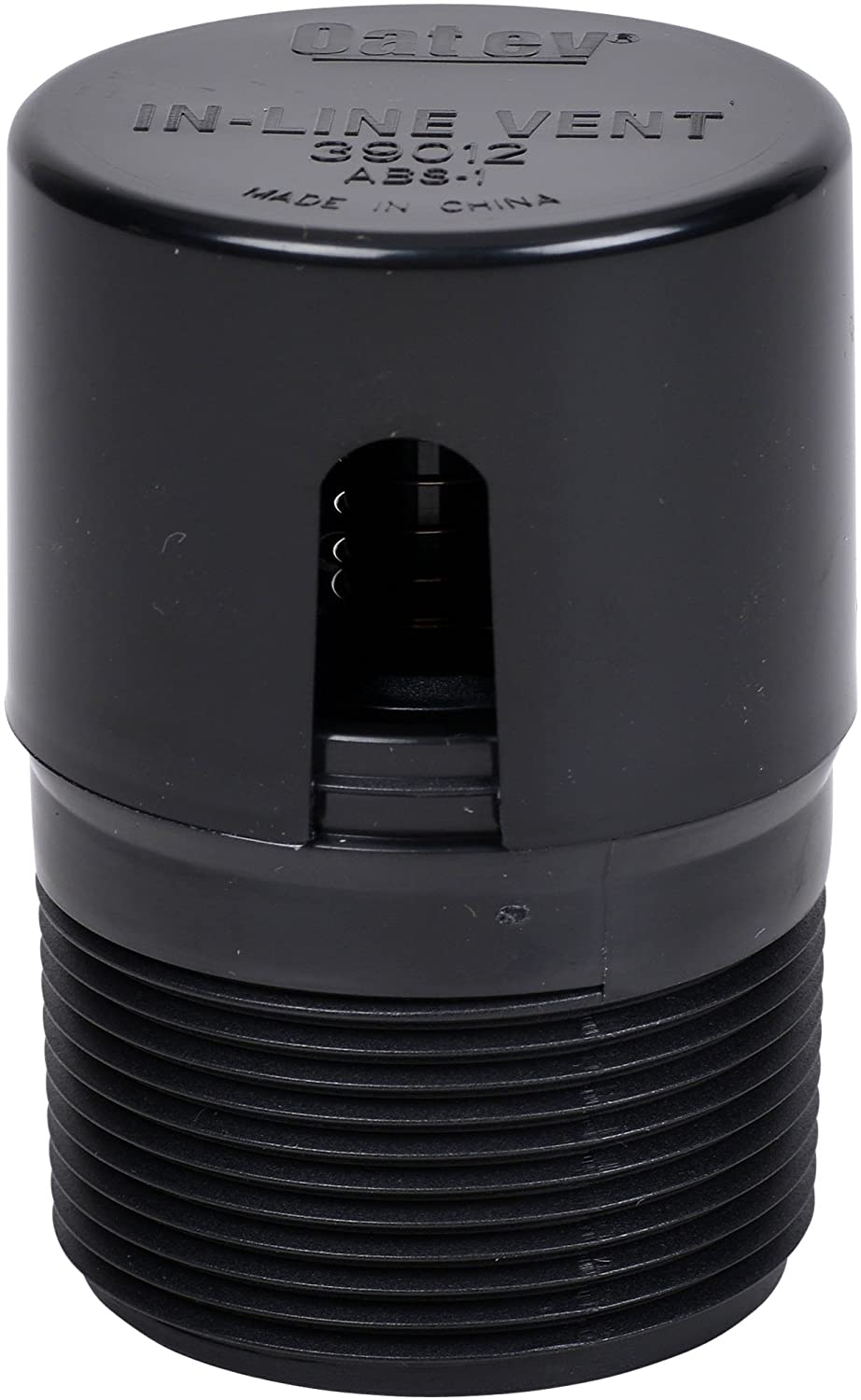 Oatey 39012 ABS In-Line Vent 2X2 13/16, Black - Plumbing Hoses -