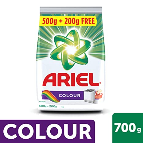Ariel Colour Detergent Washing Powder - 500 g with Detergent Washing Powder - 200 g