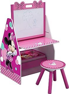 Delta Children Activity Center with Easel Desk Stool and Toy Organizer Disney Minnie Mouse  sc 1 st  Amazon.com & Amazon.com: Popular Delta Durable Children Disney Minnie Mouse Art ...