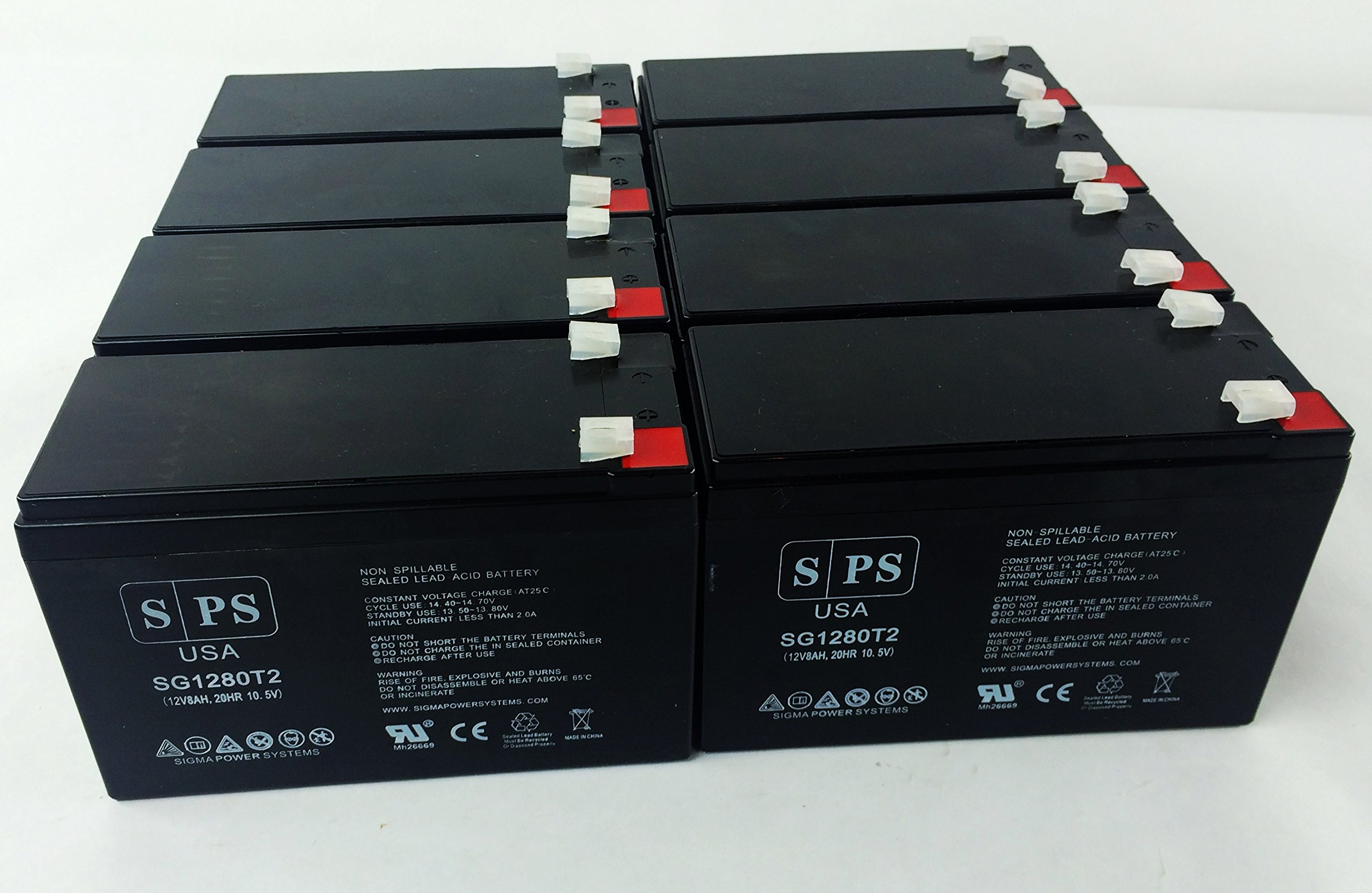 Replacement Battery for APC Professional PowerCell 12V 8Ah UPS Battery ( 8 pack)