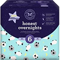 Honest Overnight Baby Diapers, Club Box, Sleepy Sheep, Size 6, 42 Count