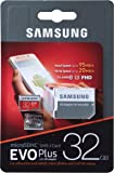 Samsung EVO Plus Class 10 Micro SDHC with Adapter, 32GB (MB-MC32GA)