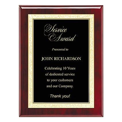 Amazon.com : Custom Engraved Plaque - High Gloss Rosewood Finish ...