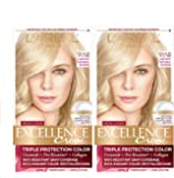 L'Oreal Paris Excellence Creme Permanent Hair Color, 9.5NB Lightest Natural Blonde, 100% Gray Coverage Hair Dye, Pack of…