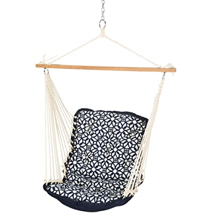Amazon Com Hatteras Hammocks Sunbrella Tufted Single Swing Luxe