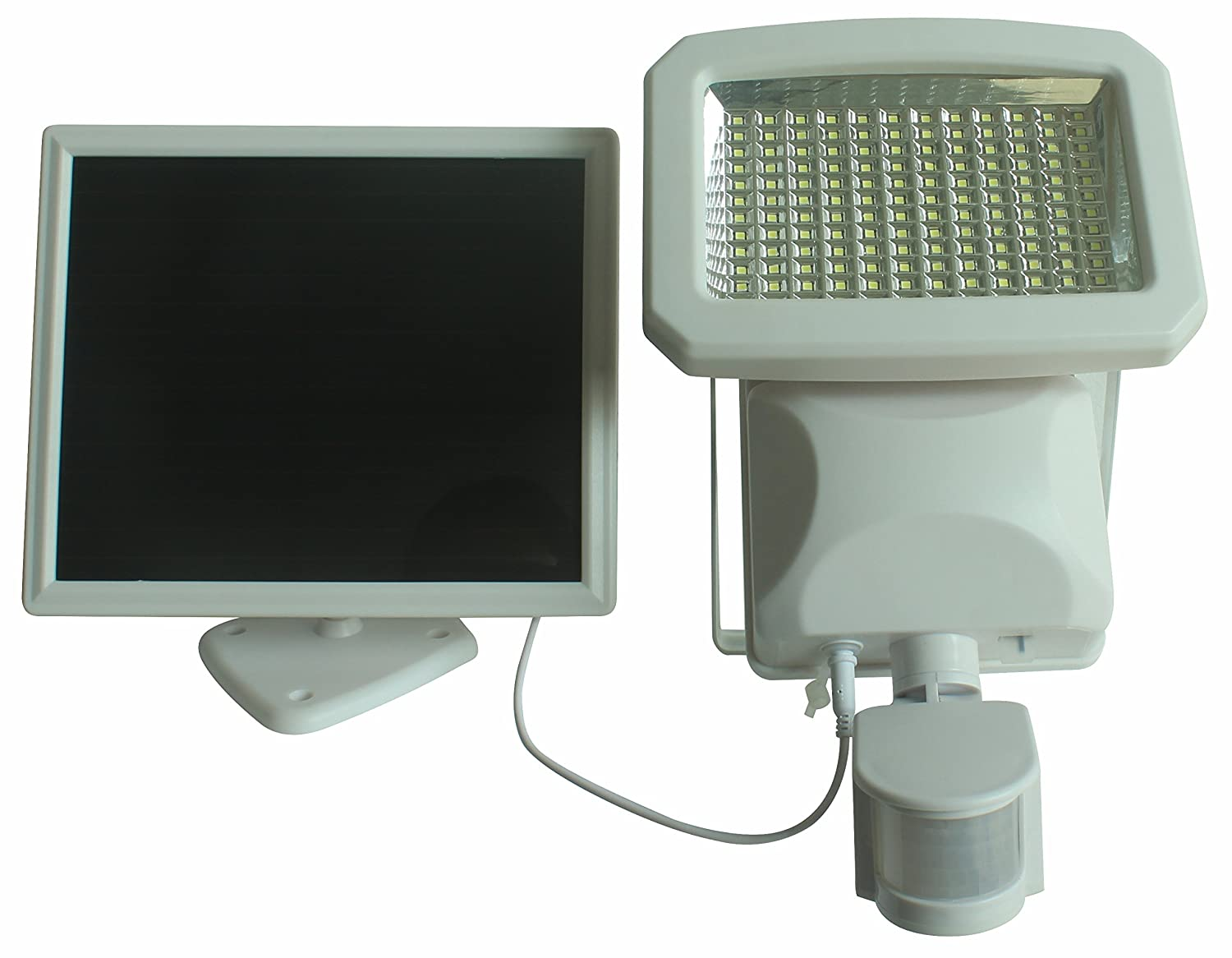 """Nature Power 22266 Motion Solar Security Light 9 x 8 x 9"""" White"""