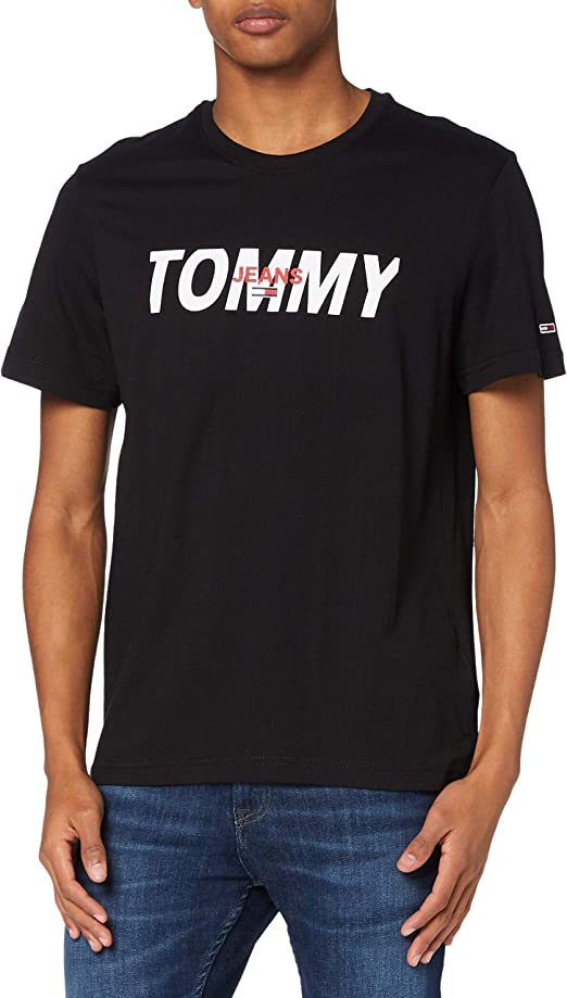 TALLA X-S, Mall. Tommy Jeans Tjm Layered Graphic Tee Camisa Hombre