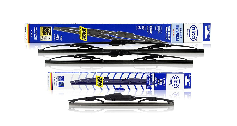 Alca AU2418H12ARC - Escobillas universales para limpiaparabrisas delanteras y traseras de 61 cm y 45 cm: Amazon.es: Coche y moto