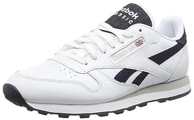 6378c0845e Reebok Classic Leather Pop, Men's Low-Top Sneakers, White (White/Faux