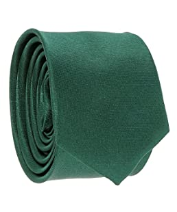 Cravate Verte foncé Slim - Cravate fine unie - 5cm