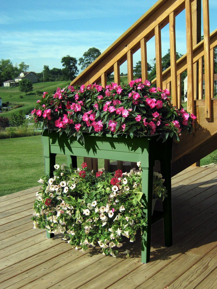 Amazon.com : Adams Manufacturing 9303 01 3700 36 Inch Deluxe Garden Planter,  Sage Green : Plant Shelf For Outdoors : Garden U0026 Outdoor