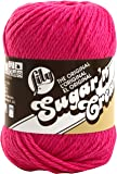 Lily Sugar 'N Cream  The Original Solid Yarn - (4) Medium Gauge 100% Cotton - 2.5 oz -  Hot Pink  -  Machine Wash & Dry
