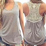 Xinantime Women's vest, Summer Casual Lace Vest Top Short Sleeve Blouse Tank Tops T-Shirt