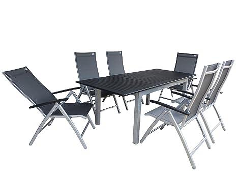 7 Juego de lujo aluminio tejido muebles de jardín grupo ...