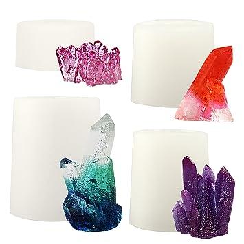 musykrafties - Molde de Silicona con Cristales de Cuarzo, para Resina, epoxi, jabón
