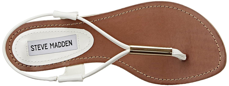 Steve Madden Hamil, Scarpe col White) Tacco con Cinturino a T Donna Bianco White) col b28041