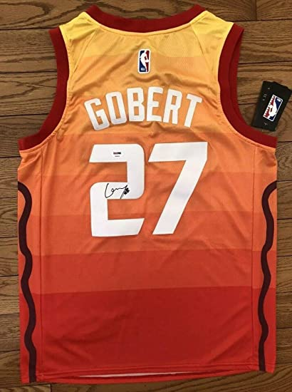 new product 61ce7 f8ef2 Rudy Gobert Autographed Signed Memorabilia Utah Jazz Jersey ...