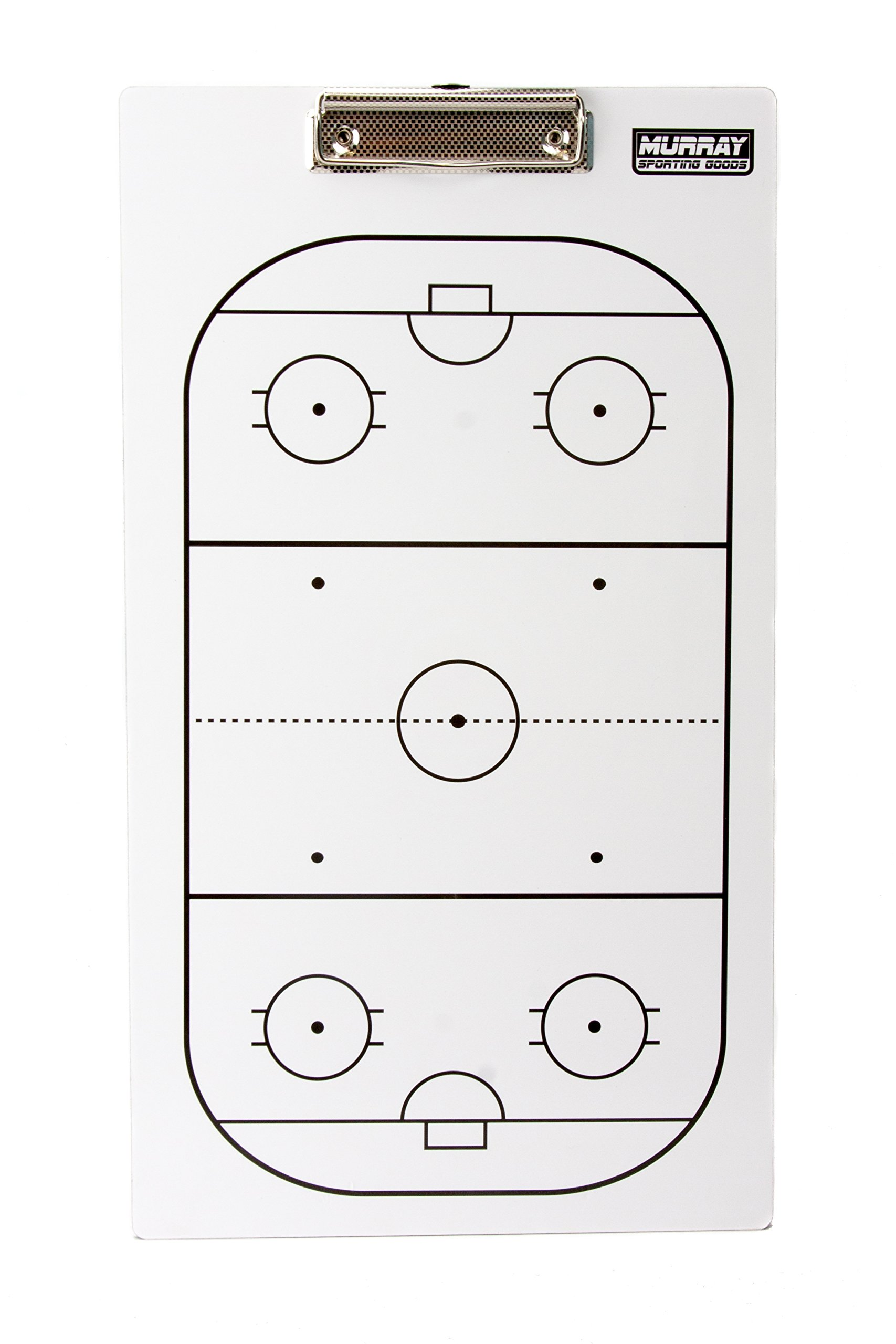 Murray Sporting Goods Dry-Erase Double Sided Hockey Coaches Clipboard