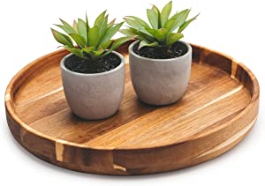 round-wood-serving-tray-entertaining | party platter | ottoman tray 15.75"