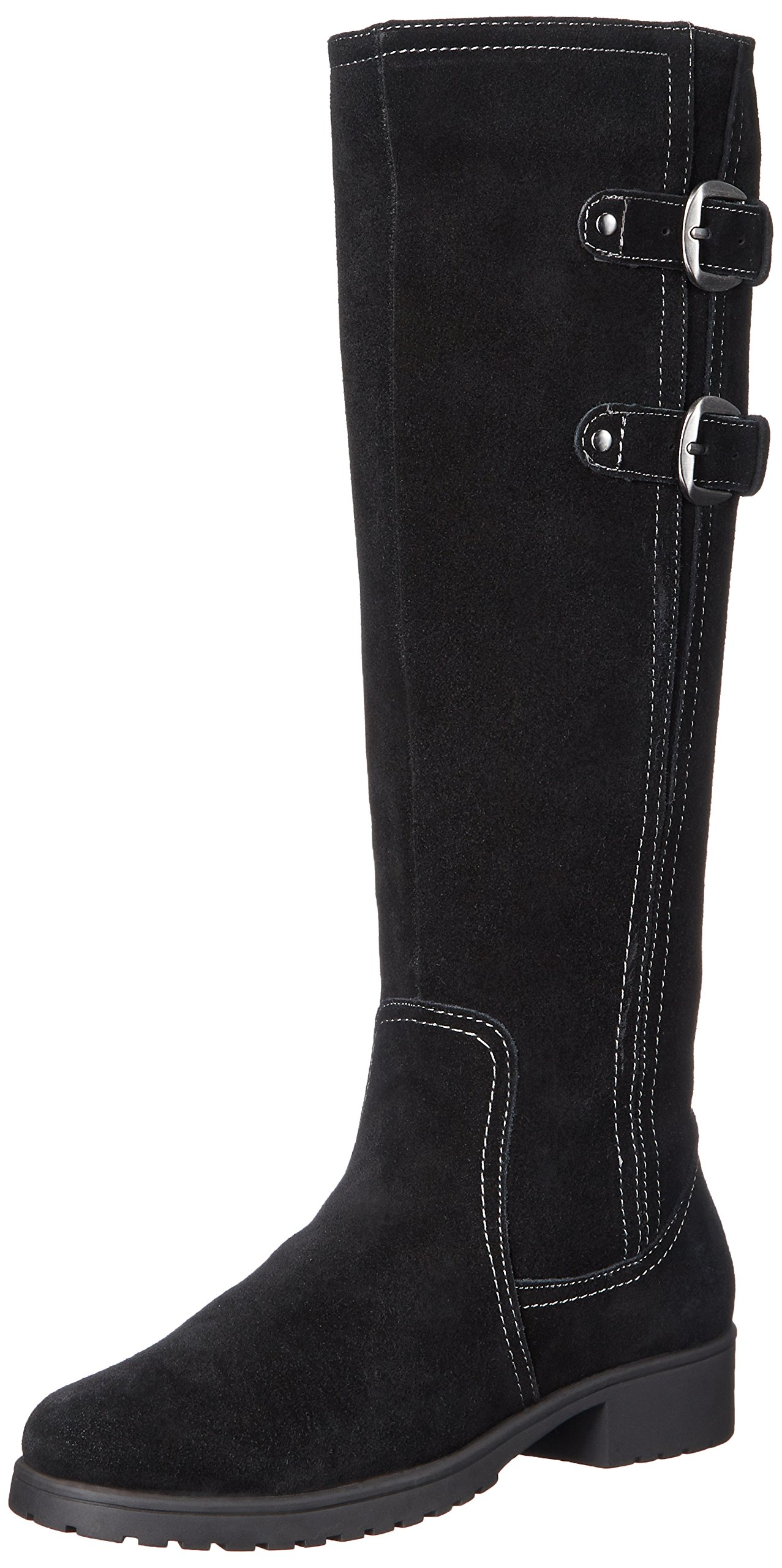 Aerosoles Women's Love Note Riding Boot,Black Suede,7 M US