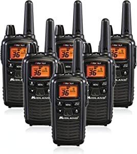 Midland LXT600VP3 36 Channel FRS Two-Way Radio - Up to 30 Mile Range Walkie Talkie - Black (Pack of 6)