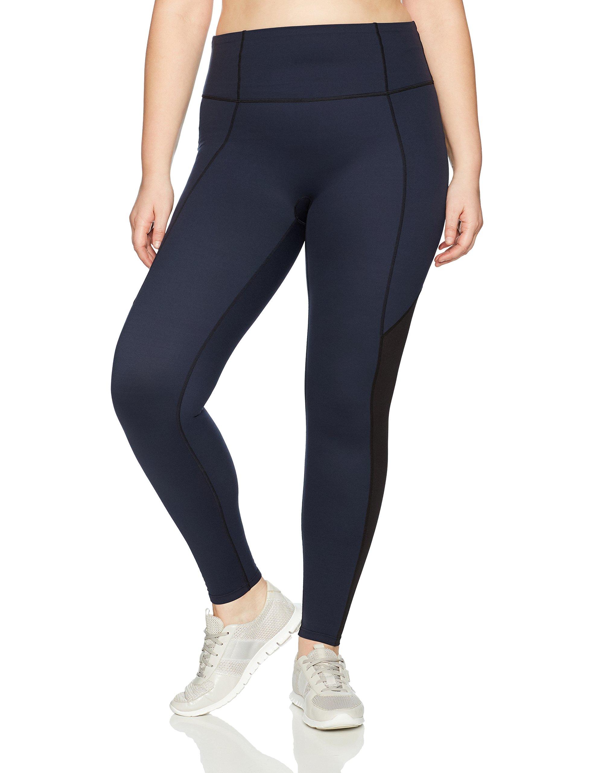 Spanx Women's Plus Size Active Compression Full Length Leggings, Lapis Night, 1X