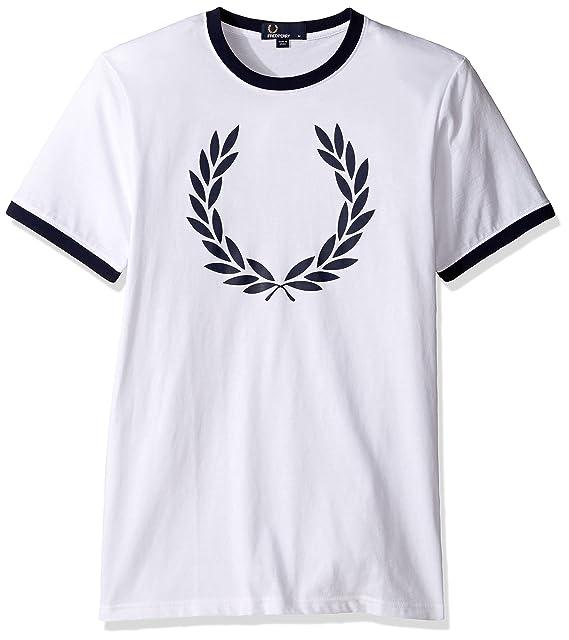 Fred Perry - Fred Perry camiseta blanco con el laurel y el ...