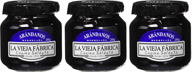 La Vieja Fábrica Mermelada de Arándanos - 3 frascos: Amazon.es ...