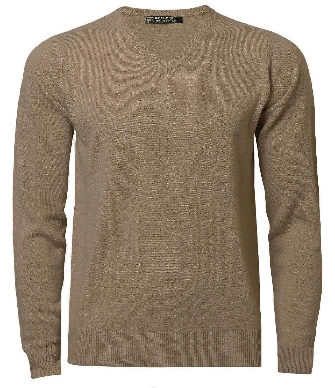Kensington Men's Soft Cashmillon V-Neck Jumper Pullover