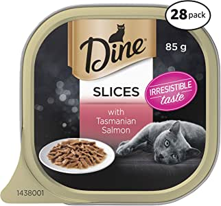 DINE Saucy Morsels with Salmon Wet Cat Food, Adult, 28 x 85g pack