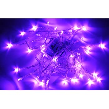 karlling battery operated purple 40 led fairy light string wedding party xmas christmas decorationspurple