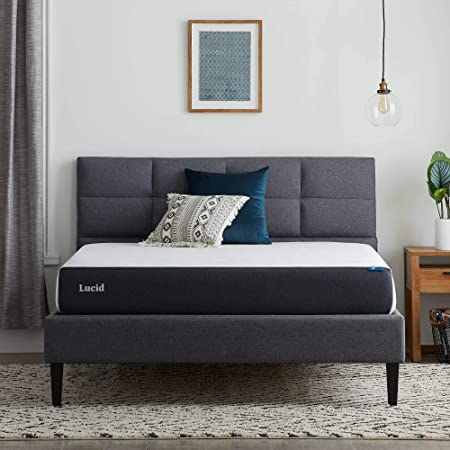 Amazon Com Lucid 8 Inch Gel Memory Foam Mattress Firm Feel Gel Infusion Hypoallergenic Bamboo Charcoal Breathable Cover Furniture Decor