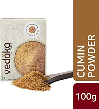 Amazon Brand - Vedaka Cumin (Jeera) Powder, 100g