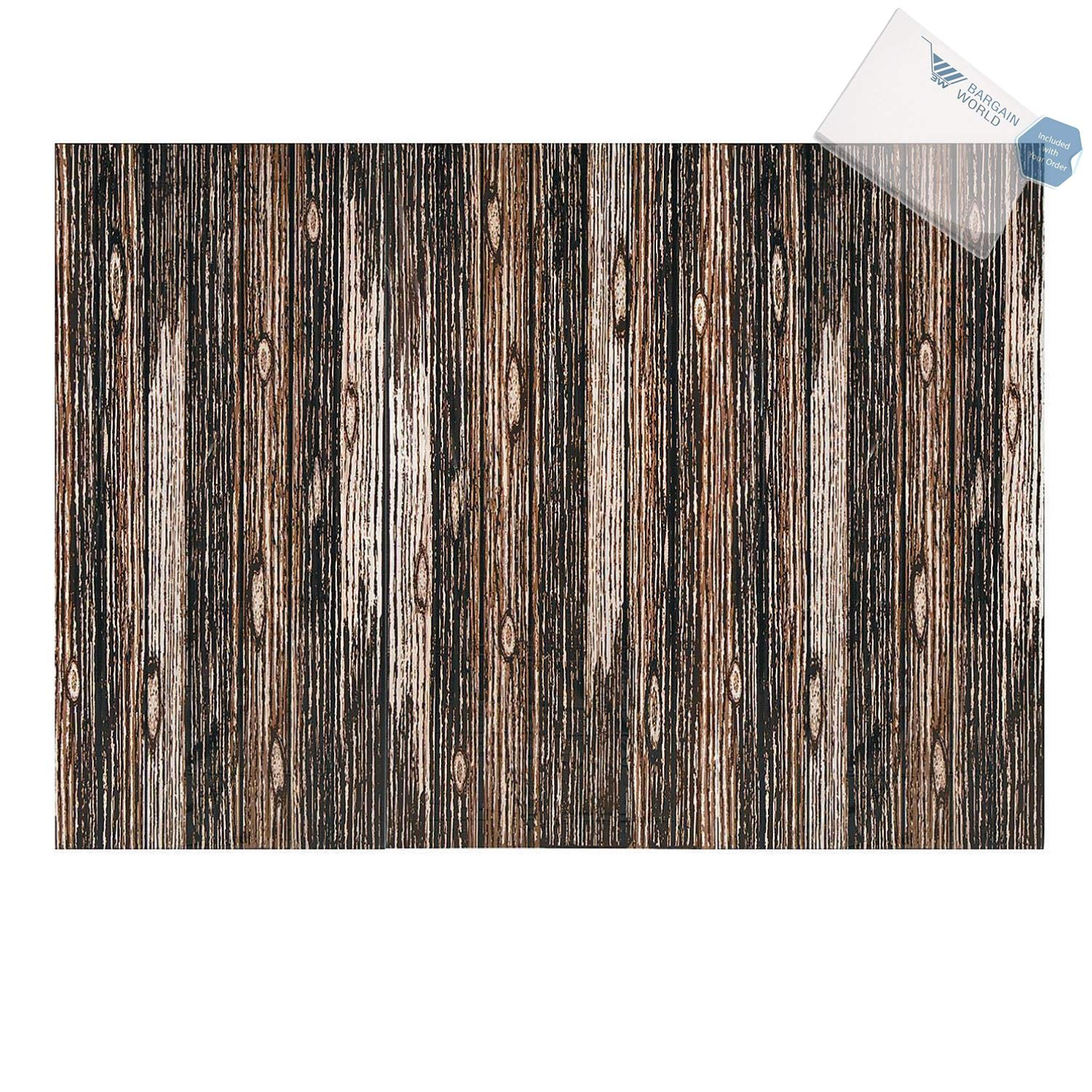 Bargain World WOOD PLANK BACKDROP BANNER (3PC) (With Sticky Notes)