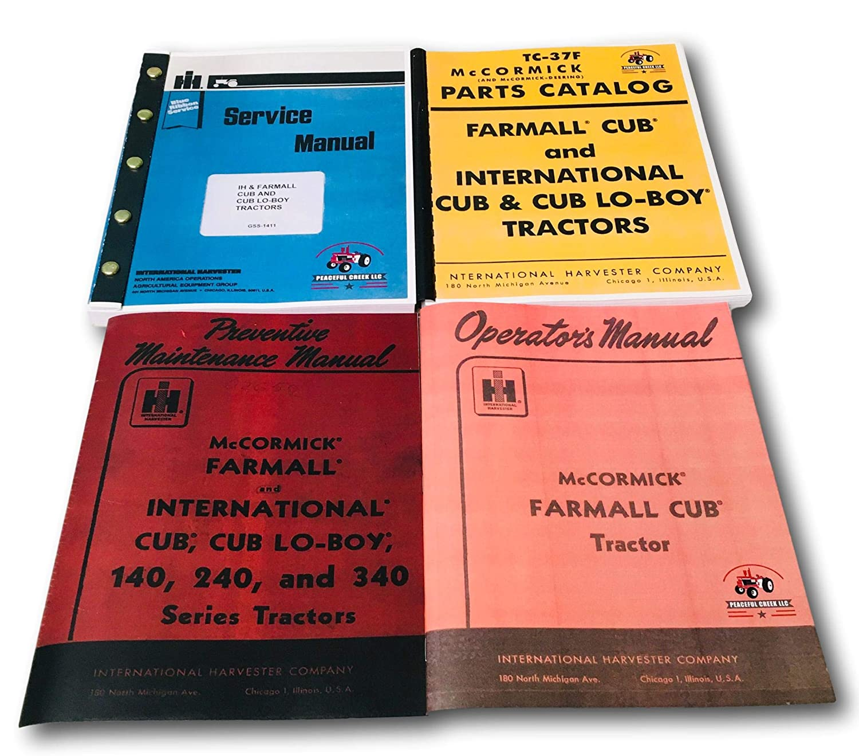 Farmall Cub Ih Tractor Manual Set Operators Service Repair ...