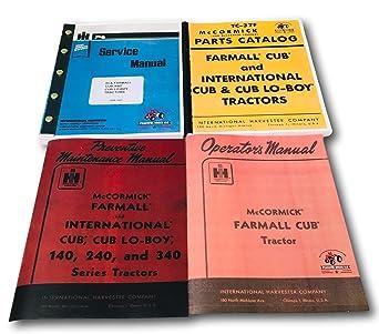Amazon Com Farmall Cub Ih Tractor Manual Set Operators Service Repair Maintenance Parts Industrial Scientific