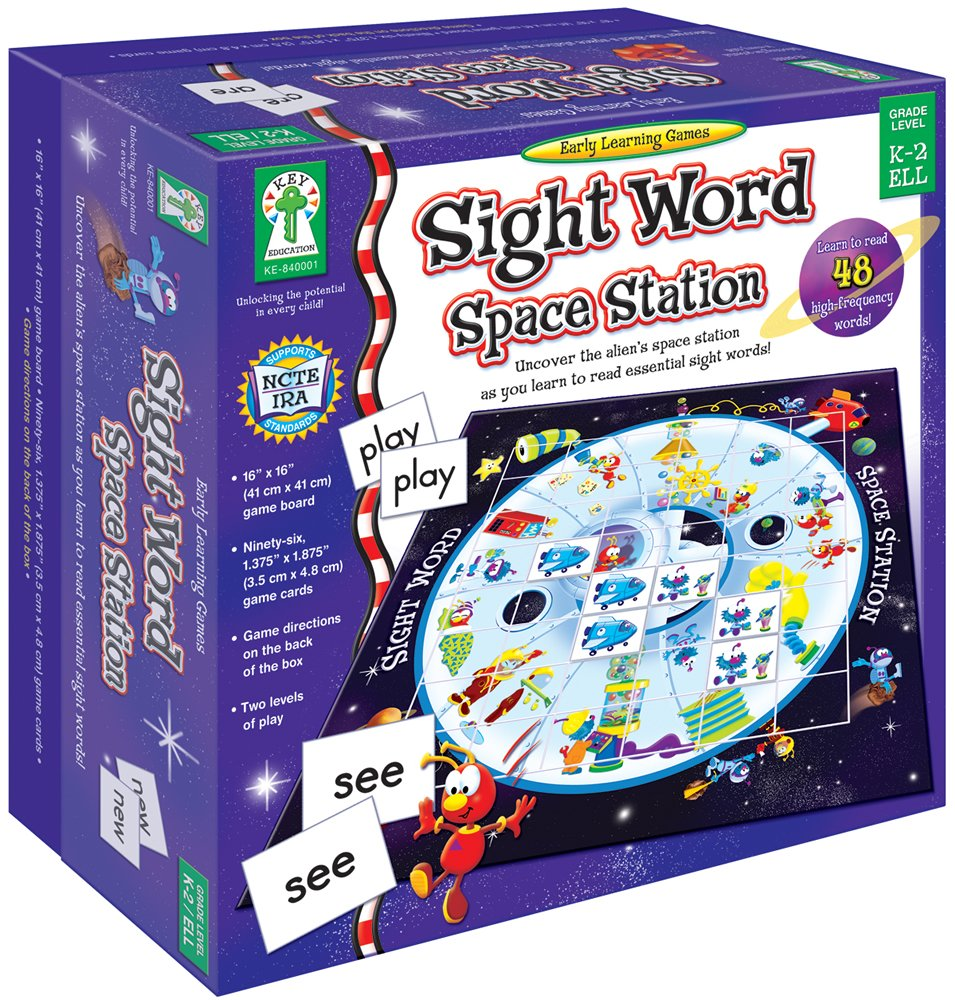 Key Education Sight Word Space Station Board Game Early Learning Game105  Pcs  Carson-Dellosa 840001