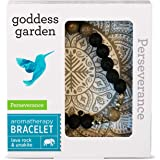 Goddess Garden Perseverance Aromatherapy Bracelet, On-the-Go Essential Oil Diffuser Jewelry, Genuine Stones, Natural Beads, B